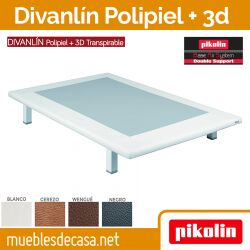 Base Tapizada Divanlin Polipiel + 3D Transpirable pikolin