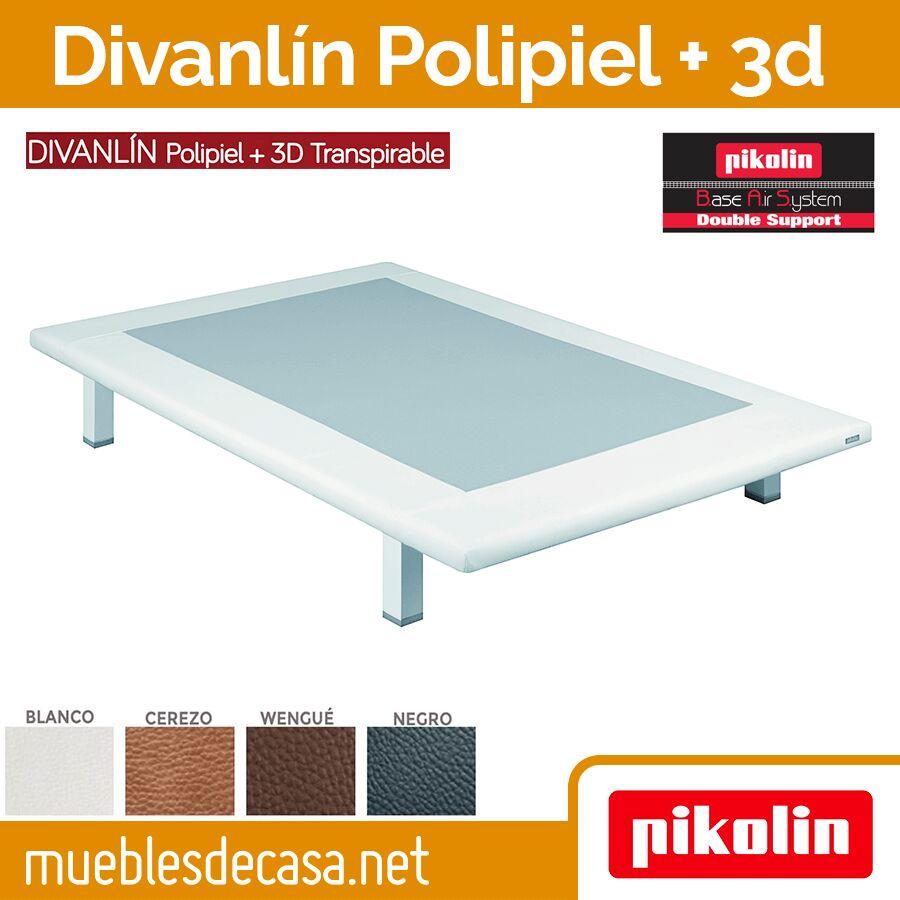 Base Tapizada Divanlin Polipiel + 3D Transpirable pikolin