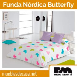 Funda Nórdica Infantil Butterfly de Reig Martí