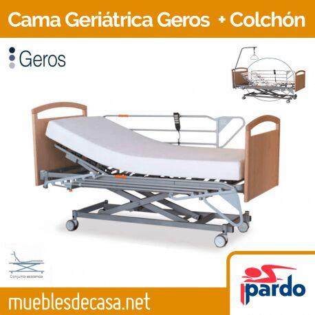 Cama Geriátrica Articulable Pardo Geros + Colchón