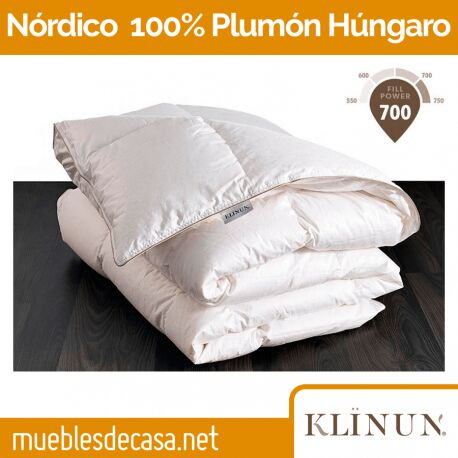 Edredón Nórdico Klinun 100% Plumón de Oca Húngara 190 gr/m2
