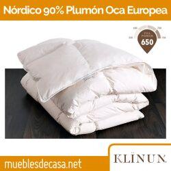 Edredón Nórdico Klinun Plumón de Oca Blanca Europea