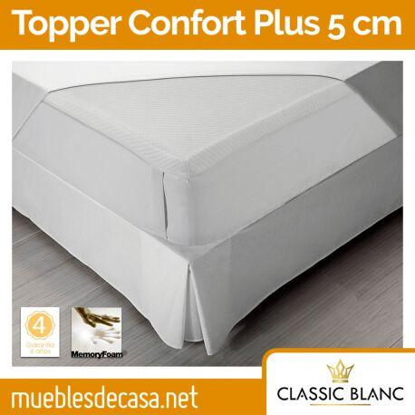 Topper Classic Blanc Viscoelástico Confort Plus 5 cm TC33