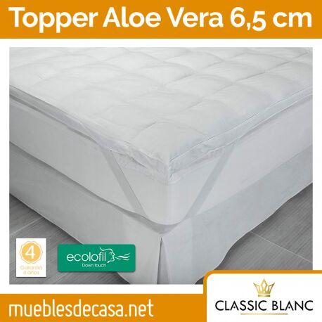 Topper Classic Blanc Fibra Dermoprotector Aloe Vera 6,5 cm TC38