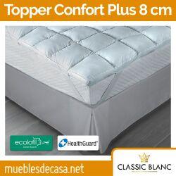 Topper de Fibra Confort Plus 8 cm de Classic Blanc