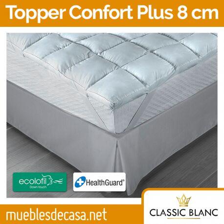 Topper Classic Blanc Fibra Confort Plus 8 cm TC30
