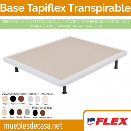 Base Fija Tapizada Flex Tapiflex Transpirable