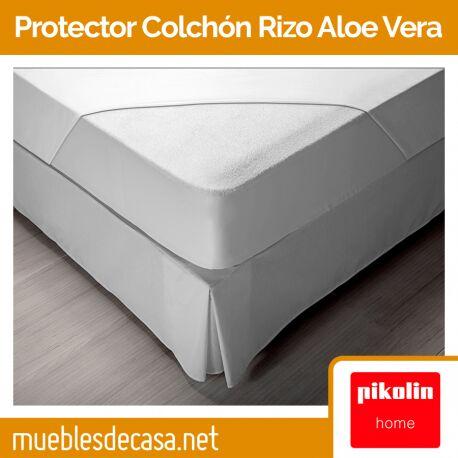 Protector de Colchón Pikolin Home Rizo Aloe Vera Impermeable y Transpirable PP16