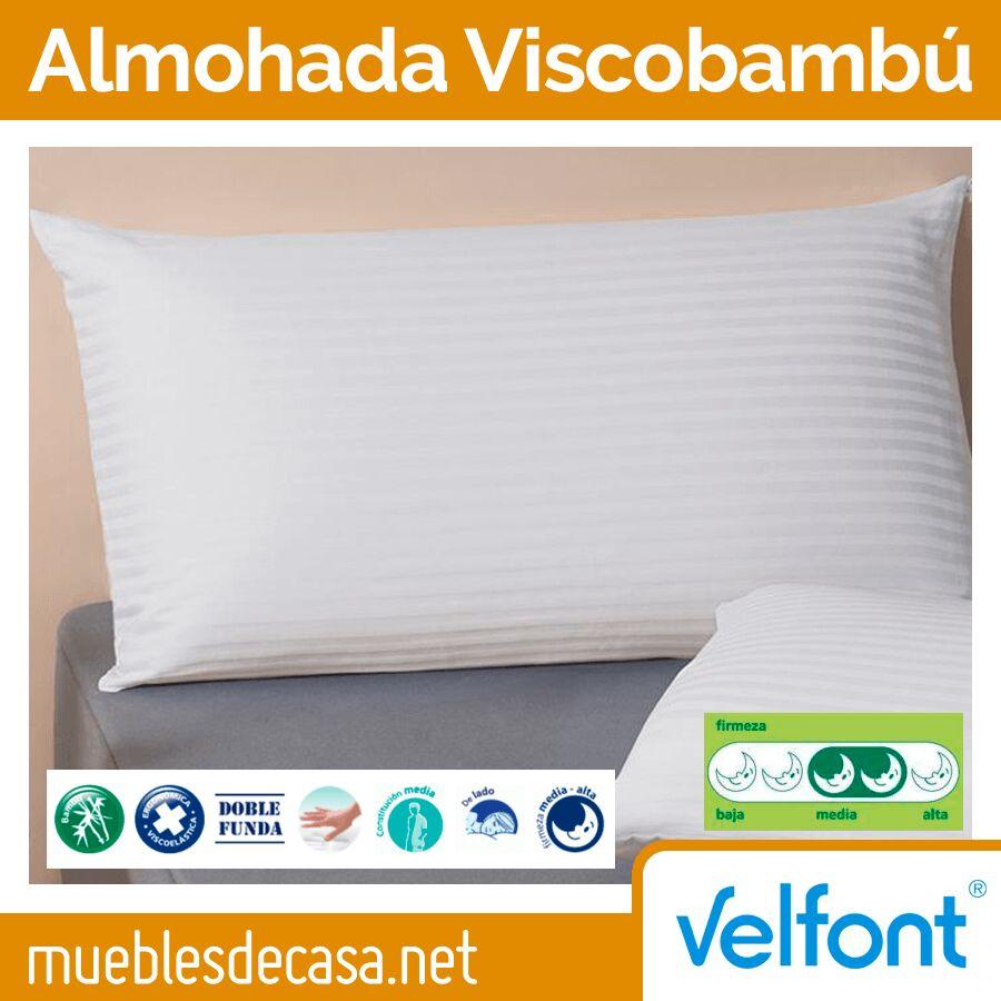 Almohada Viscoelástica Viscobambú de Velfont