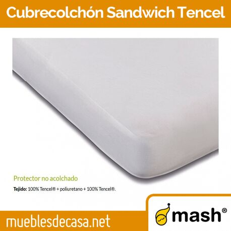Cubrecolchón Mash no Acolchado Sandwich Tencel