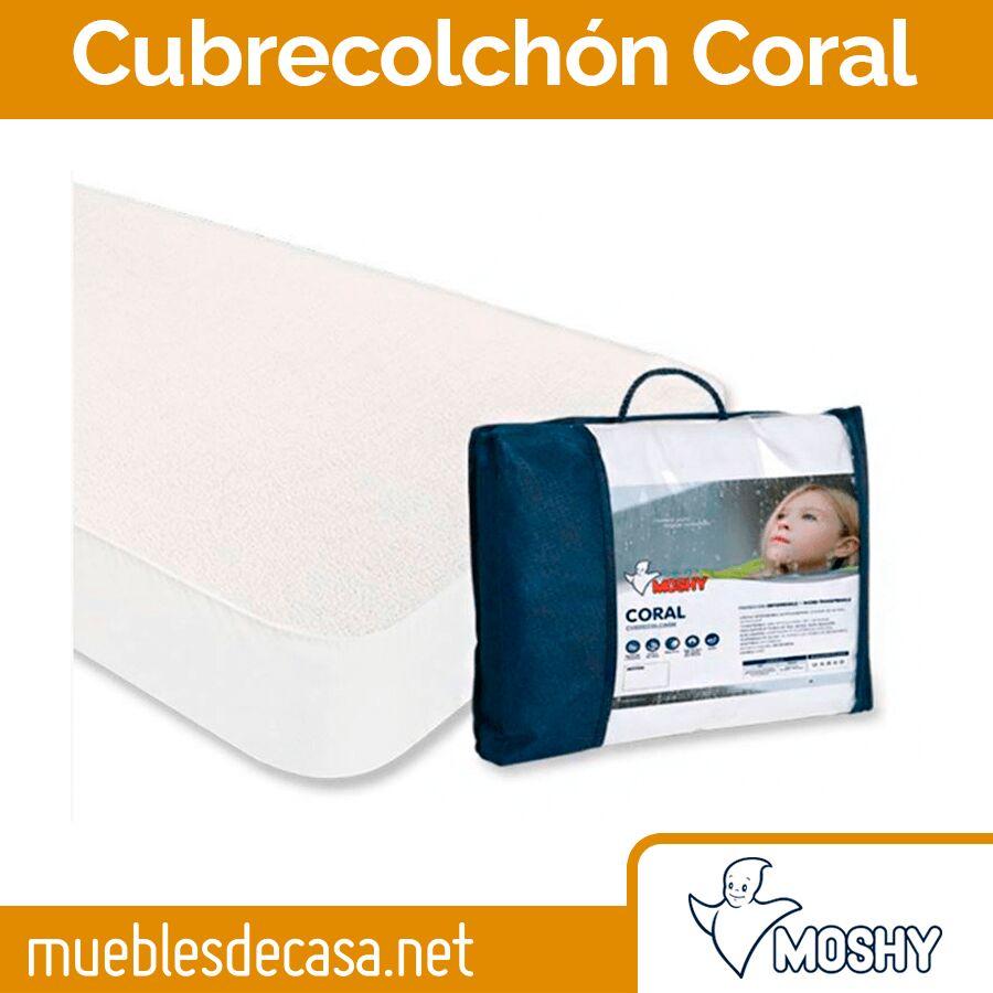 Cubrecolchón Impermeable y Transpirable Coral de Moshy