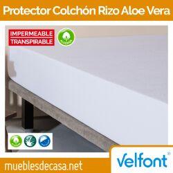 Protector de Colchón Rizo Aloe Vera Impermeable de Velfont