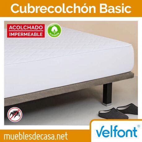 Cubrecolchón Velfont Basic Acolchado Impermeable