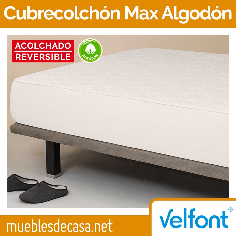 Cubrecolchón Max Algodón Reversible de Velfont