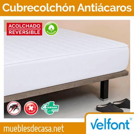 Cubrecolchón Velfont Antiácaros Acolchado