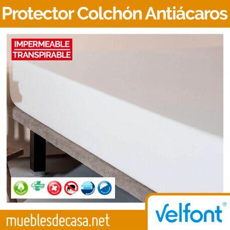 Protector de Colchón Velfont Antiácaros Impermeable