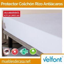 Protector colchón rizo antiácaros de Velfont
