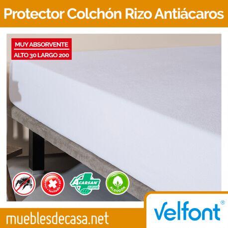 Protector de Colchón Velfont Rizo Antiácaros