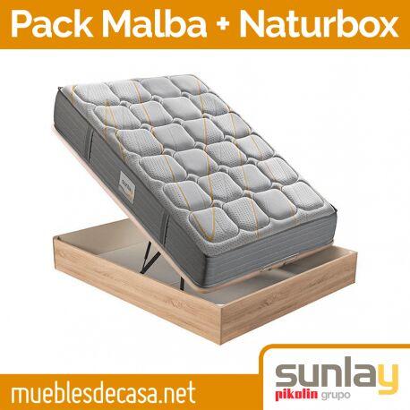 Pack Pikolin Colchón Malba + Canapé Naturbox