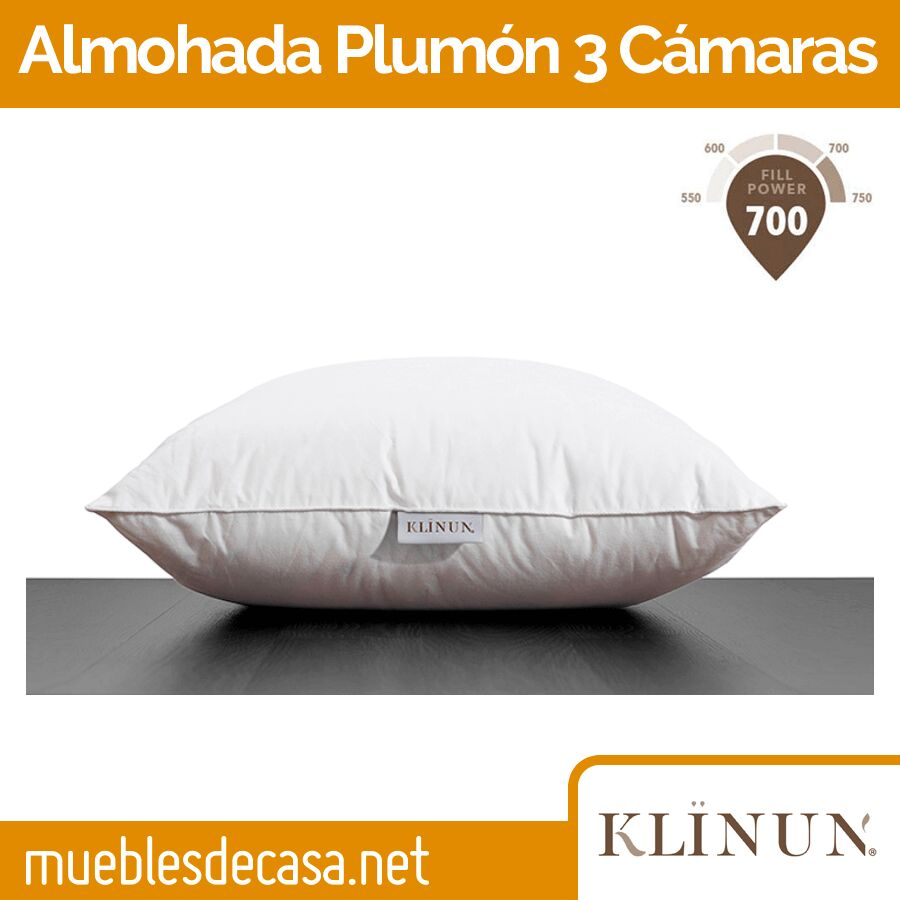 Almohada de Plumón de Pato de los Pirineos Klinum