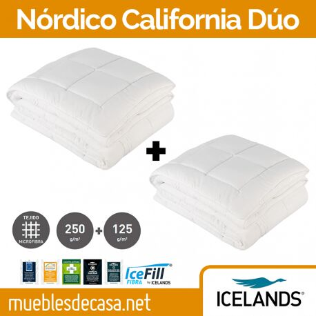 Edredón Nórdico Icelands California Plus 375 Duo