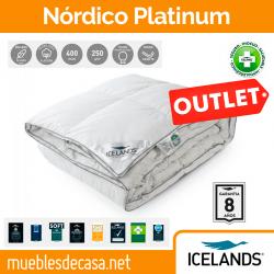 Edredón Nórdico Icelands Platinum 99% Plumón Oca Blanca