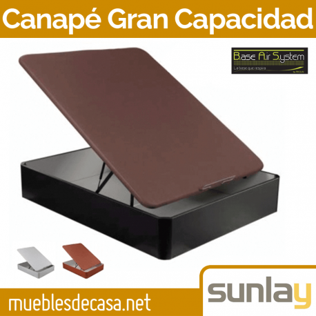 Canapé Abatible Madera Gran Capacidad de Sunlay