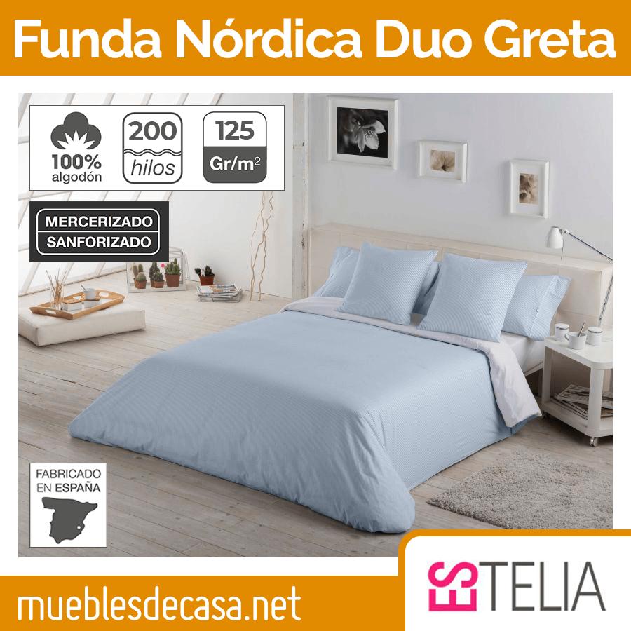 Juego Funda Nórdica Duo Greta 200 Hilos Es-tela