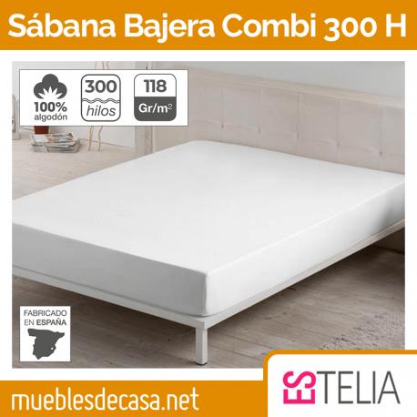 Sábana Bajera Liso Combi Algodón 300 Hilos de Estelia