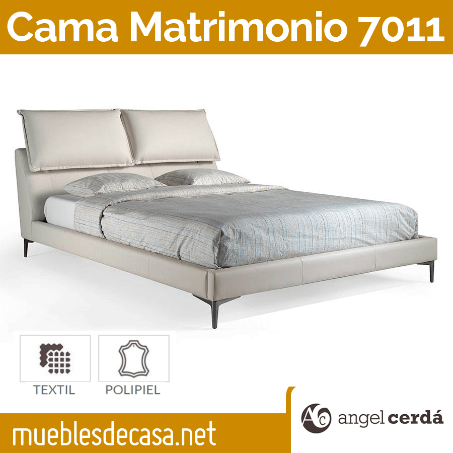 Cama de Matrimonio de Diseño Ángel Cerdá Modelo 7011