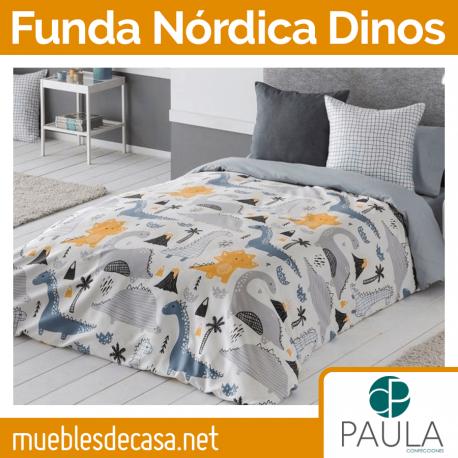 Funda Nórdica Dinos Confecciones Paula Cama 90 OUTLET