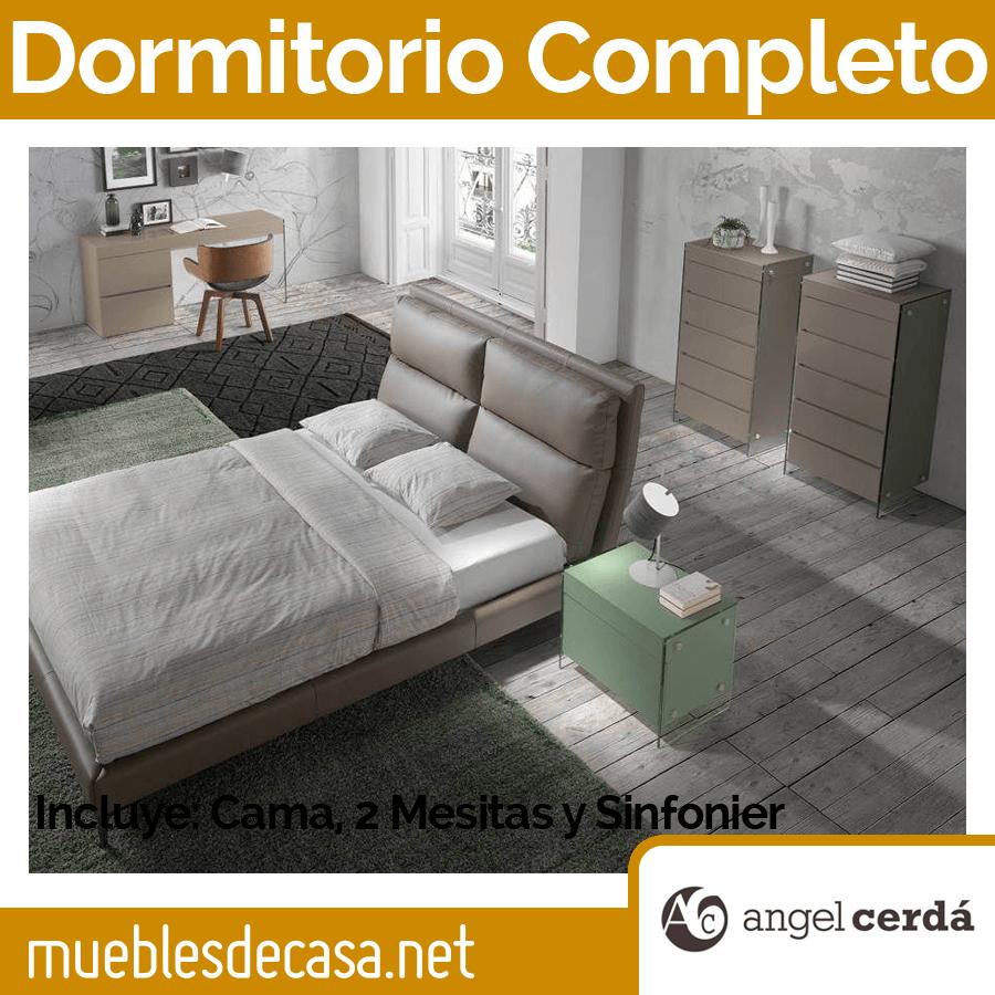 Dormitorio de Matrimonio Ángel Cerdá con Cama 7014, Mesitas 7002 y Sinfonier 7017