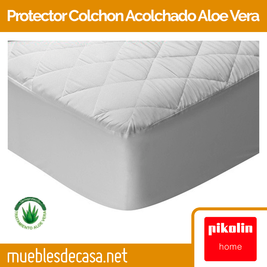 Protector de Colchón Pikolin Home Acolchado Aloe Vera PA37