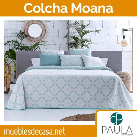 Colcha Confecciones Paula Moana Cama 90 Turquesa OUTLET