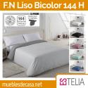 Funda Nórdica Liso Bicolor 144 Hilos Estelia