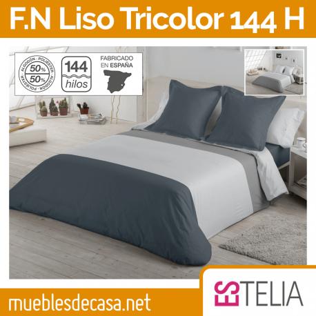 Funda Nórdica Lisa Tricolor 144 Hilos Estelia