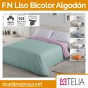 Funda Nórdica Liso Bicolor Algodón 144 Hilos Estelia