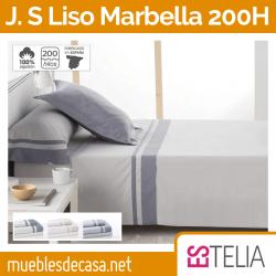 Juego de Sábanas Algodón de 200 Hilos Liso Marbella de Es-tela