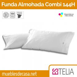 Funda de Almohada Liso Combi Algodón/Poliéster 144 Hilos Estelia