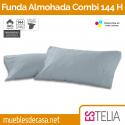 Funda de Almohada Liso Combi Algodón 144 Hilos Estelia
