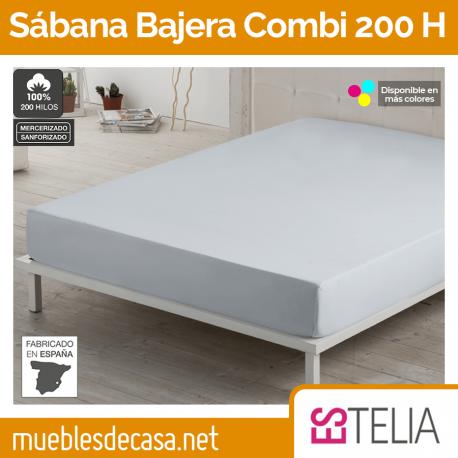 Sábana Bajera Liso Combi Algodón 200 Hilos Estelia