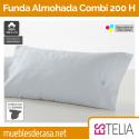 Funda de Almohada Liso Combi Algodón 200 Hilos Estelia