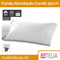 Funda de Almohada Liso Combi Algodón 300 Hilos Biés Estelia