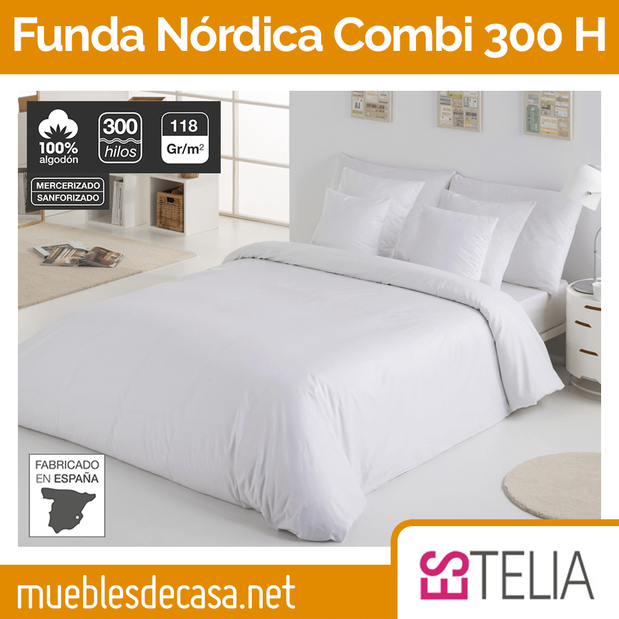 Funda Nórdica Liso Combi 300 Hilos Estelia