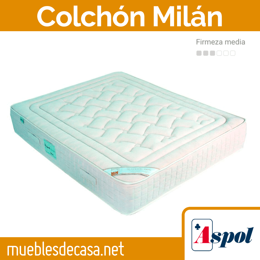 Colchón de Muelles Ensacados Aspol Milán