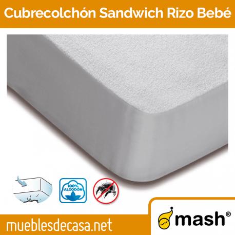 Cubrecolchón Mash Sandwich Rizo bebé