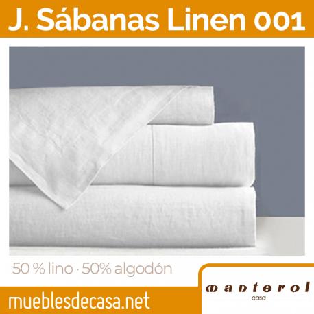 Juego de Sábanas Manterol Linen 50% Lino 50% Algodón