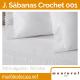 Juego de Sábanas Crochet 150 hilos de Manterol