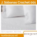 Juego de Sábanas Manterol Crochet 001-C02 100% Algodón 150 hilos