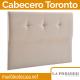 Cabecero Tapizado La Premier, Modelo Toronto